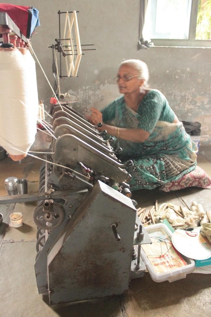 Spinning Khadi