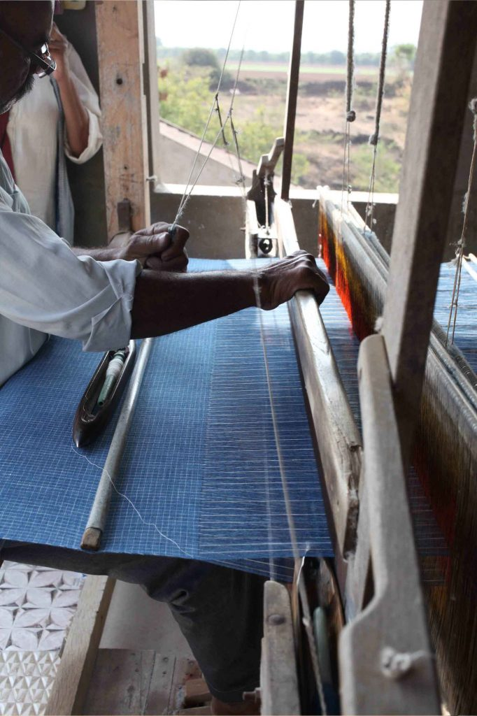 weaving kala cotton
