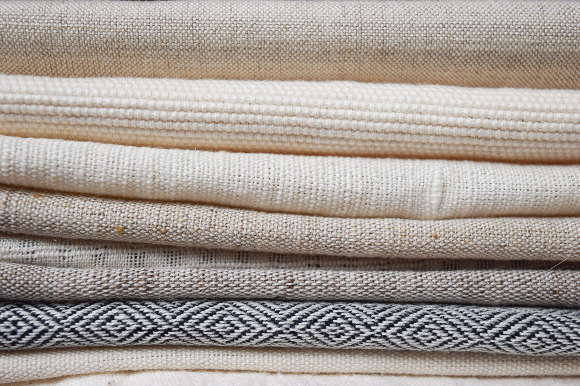 Cotton and Wool khadi fabrics.