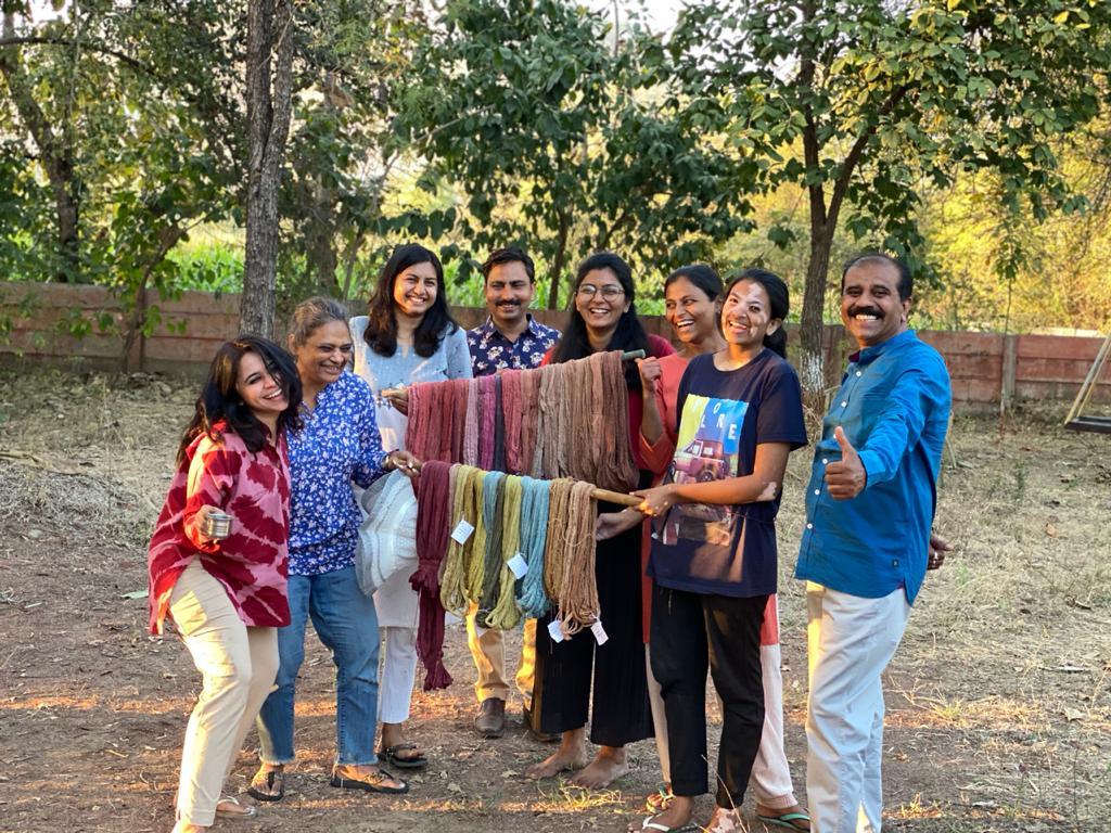 Shades of happiness and fabrics