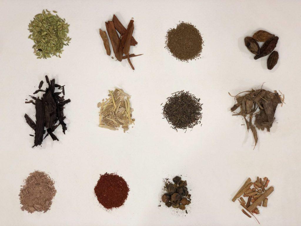 natura material - Ayurvedic ingredients