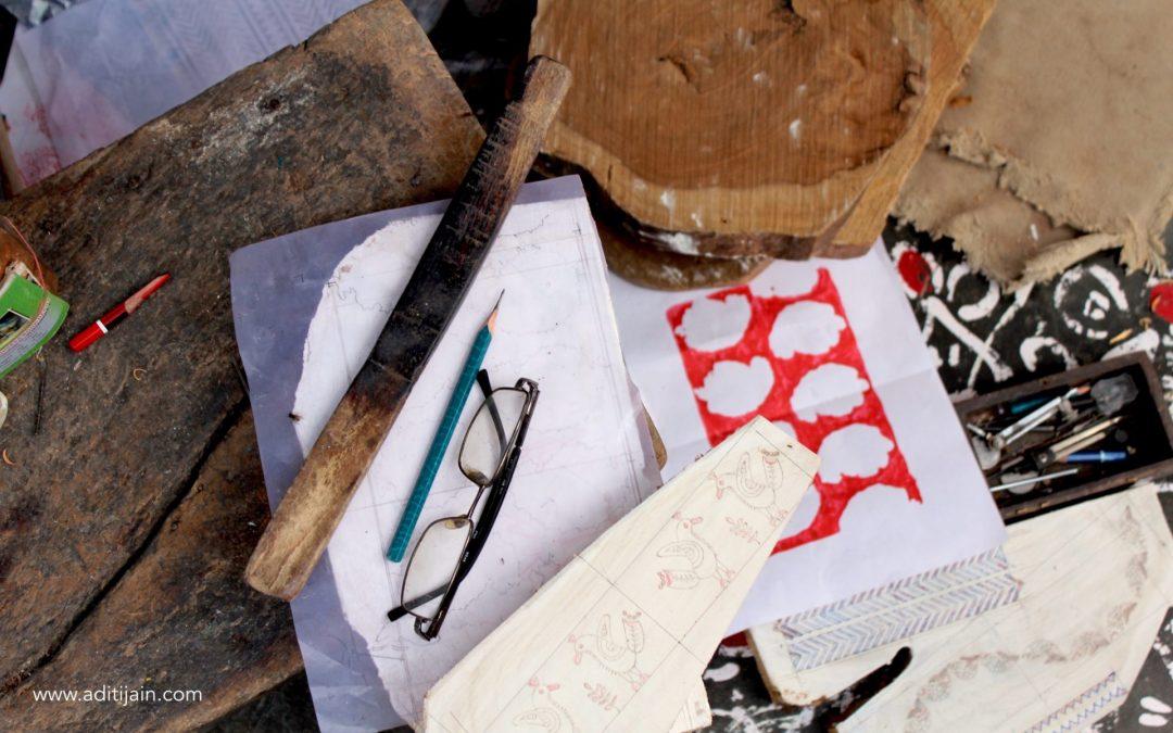 Gangadhar's Studio: Witnessing the Art of Carving Blocks